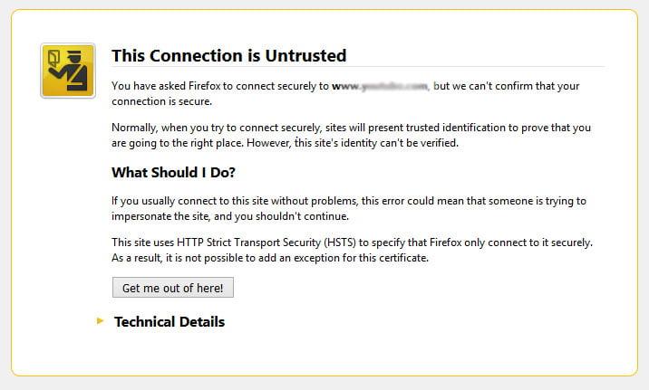 expirarea Certificatului SSL